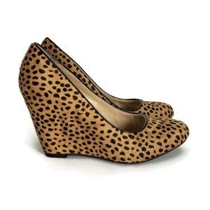 Banana Republic Calf Hair Leopard Print Wedge